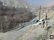 تصاویر | سقوط وانت پیکان به دره فرحزاد