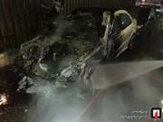 تصاویر | بنز لاکچری در میدان بهارستان جزغاله شد