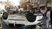 تصاویر | بانوی ۵۶ ساله با ۲۰۶ در تهران چپ کرد
