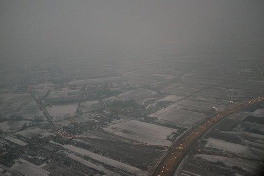 هوای پر از  مه و دود شهر ورشو در ماه فوریه