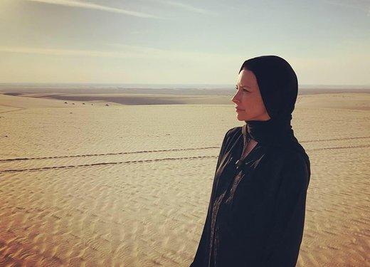 عکس | اوانجلین لیلی بازیگر سریال «لاست» با حجاب کامل