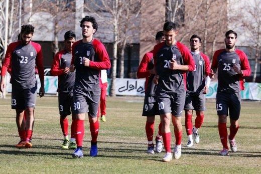 تمرین تیم ملی فوتبال امید