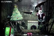 فیلم | بابانوئلهای دریایی که کریسمس را تبریک میگویند!