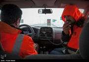 تداوم بارش برف در جادهها و گردنههای استان قزوین