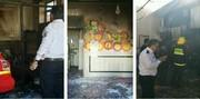 تصاویر | آتشسوزی مدرسه ابتدایی در زاهدان