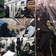 ابتکار با مترو به محل کار رفت/ عکس