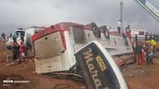 مقصر واژگونی اتوبوس در سمنان شناخته شد