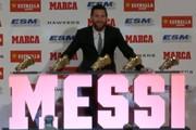 فیلم | وقتی مسی پنجمین کفش طلایش را گرفت