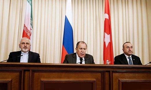 تاكید وزراء خارجیة ایران وروسیا وتركیا علي استقلال وسلامة الاراضی السوریة