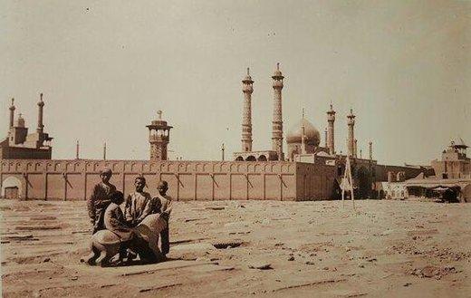 تصویر قدیمی از شهر مقدس قم و حرم حضرت معصومه (س)