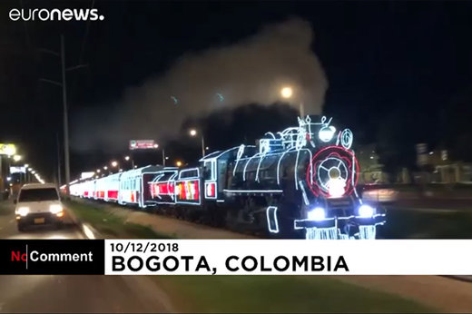 فیلم | سوار قطار ۴۰۰ متری کریسمس شوید