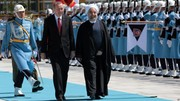 روحانی مورد استقبال رسمی همتای ترک خود قرار گرفت/ اردوغان به فارسی خوشامد گفت