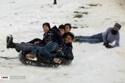 تصاویر   هیجان برفبازی در زمستان زودرس همدان