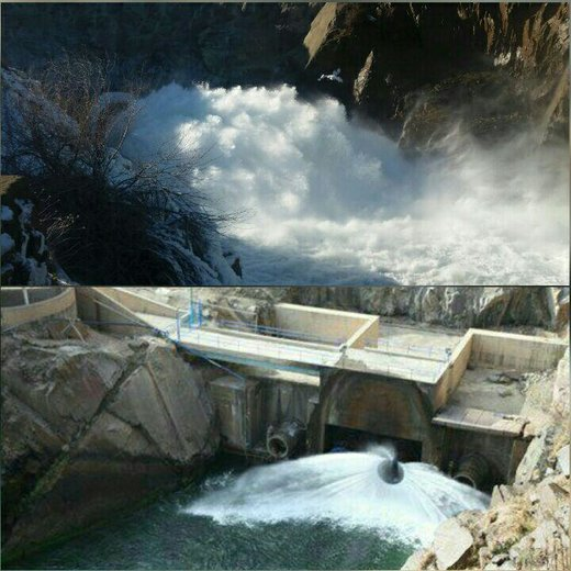 آغاز مرحله نخست رهاسازی آب از سد مخزنی بوکان به سمت دریاچه ارومیه
