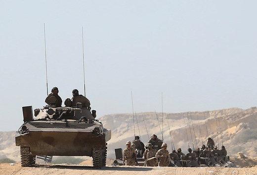عکس | آتش سنگین یگانهای توپخانه برمواضع دشمن فرضی