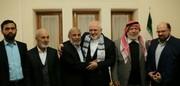 ملاقات ظریف با اعضای حماس/ عکس