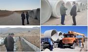 شروع عملیات جدول گذاری و اجرای پل موقت معبر شهرک جوشکاران یاسوج