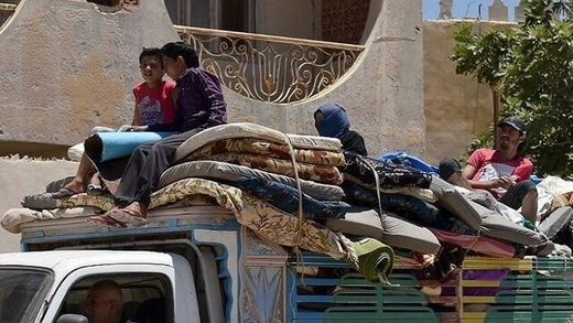 بزرگترین کوچ گروهی غیرنظامیان از منطقه داعش در شرق فرات
