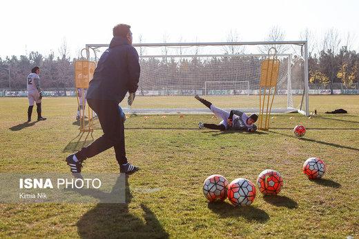 تمرین تیم ملی فوتبال بانوان