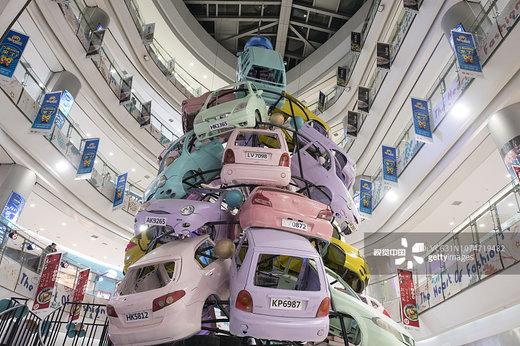 درخت کریسمس در شهر هاربین چین