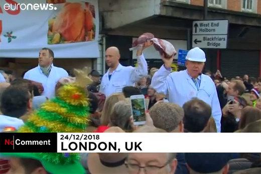 فیلم | حراج گوشت سال نو در لندن!