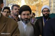 حضور فرزند رهبر انقلاب در مراسم تشییع آیتالله هاشمیشاهرودی/ عکس