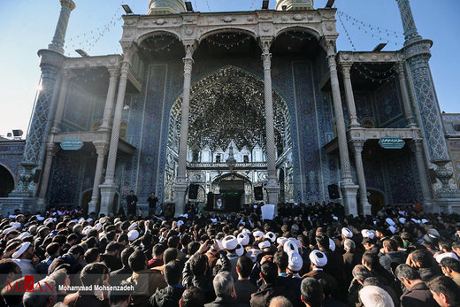 مراسم تشییع پیکر آیت الله هاشمی شاهرودی در قم