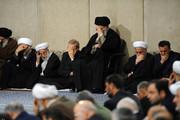 عکس | رهبر معظم انقلاب در مراسم ترحیم آیتالله هاشمیشاهرودی
