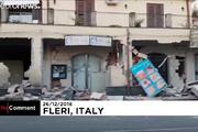 فیلم | خسارات زلزله ۴.۸ ریشتری سیسیل پس از فوران آتشفشان