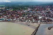فیلم | تصاویر هوایی از سواحل اندونزی پس از سونامی
