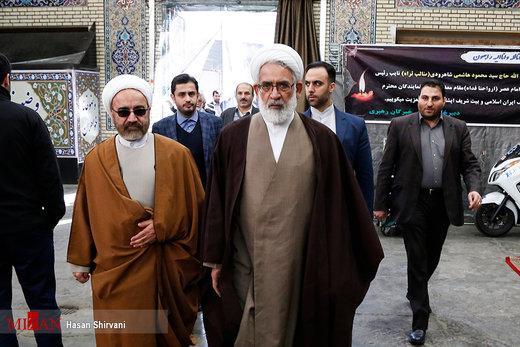 مراسم ترحیم آیت الله هاشمی شاهرودی در مسجد ارک تهران