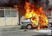 سمند آتش گرفت؛۳ نفر از مهلکه جستند