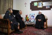 دیدار رئیس جمهور با خانواده شهید ارمنی آلفرد گبری /عکس
