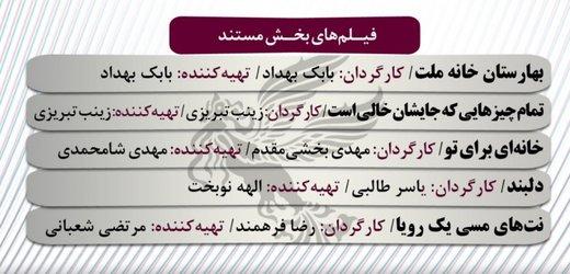 مستندهای حاضر در سیوهفتمین دوره جشنواره فیلم فجر