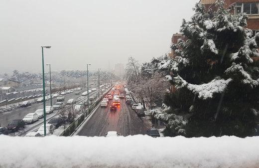 برف تهران در سیزدهمین روز زمستان