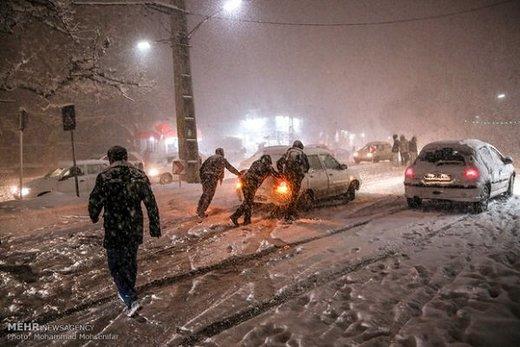 اعلام آخرین وضعیت جادههای برفی