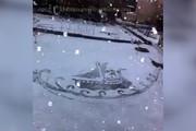 فیلم | نقاشیهای برف در دمای منفی ۱۰ درجه