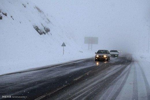 بارش برف  کردستان را  سپید پوش کرد