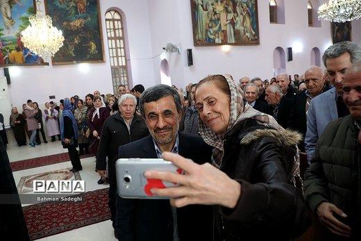 حضور احمدینژاد در مراسم سال نو میلادی  ارامنه شرق تهران