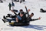 تصاویر | تیوبسواری در دومین پیست بینالمللی اسکی ایران