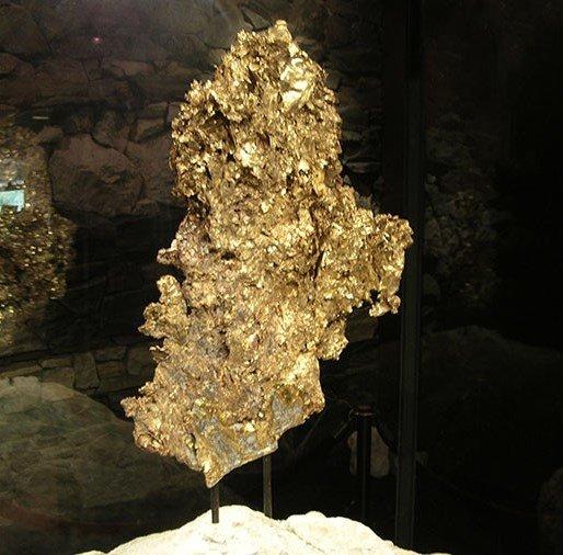 نمونه برگ طلائی کریستال کوتز در موزه heritage در کالیفرنیا نمایش داده میشود، این تکه طلا در سال 1992 توسط شرکت Sonora Mining استخراج شد که پس از تمیزکاری وزن آن 16.4 کیلوگرم شد که 527 اونس آن طلای خالص است