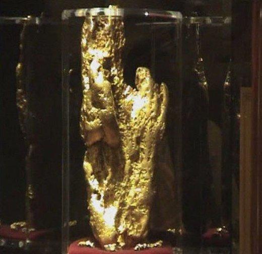 این قطعه طلا که 27.66 کیلوگرم یا 875 اونس وزن دارد، در سال 1980 در شهر Kingower ایالت ویکتوریای استرالیا کشف شد و در لاسوگاس نمایش داده میشود