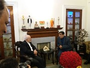 فیلم| دیدار ظریف با وزیر حمل و نقل هند