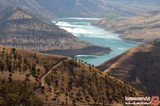 یاقوتی سبز در دل کوههای سر به فلک کشیدهی جنوب ایران! +تصاویر