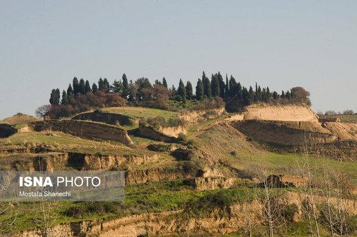 برداشت بیرویه از تپههای مسیر نکا به بهشهر استان مازندران