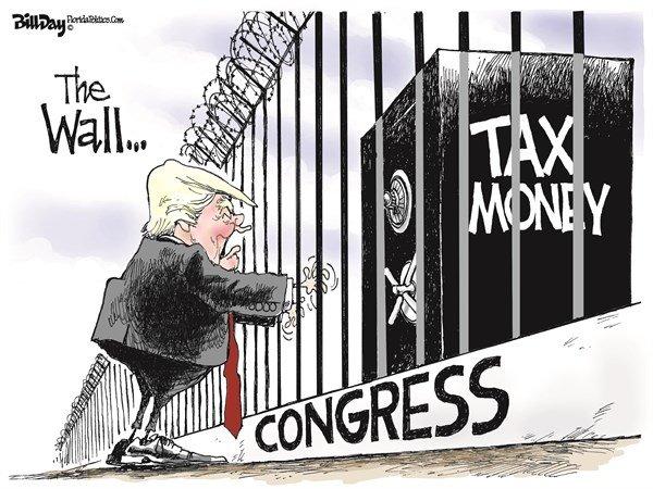 کشمش ترامپ و کنگره آمریکا برای احداث دیوار مرزی
