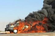 مرگ دلخراش سرنشینان پژو ۴۰۵ در میان شعلههای آتش