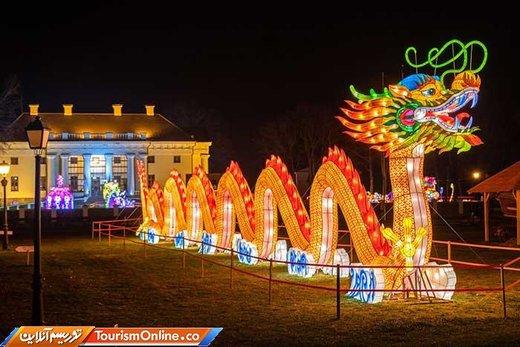 جشنواره رنگارنگ فانوس های چینی