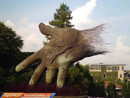 دست بزرگ در باندونگ –اندونزی- جنس فولاد