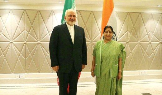 وزير الخارجية الايراني يلتقي نظيرته الهندية